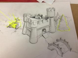 A sketch of the castle design